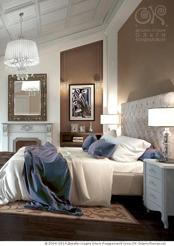 Спальня в мансарде дома