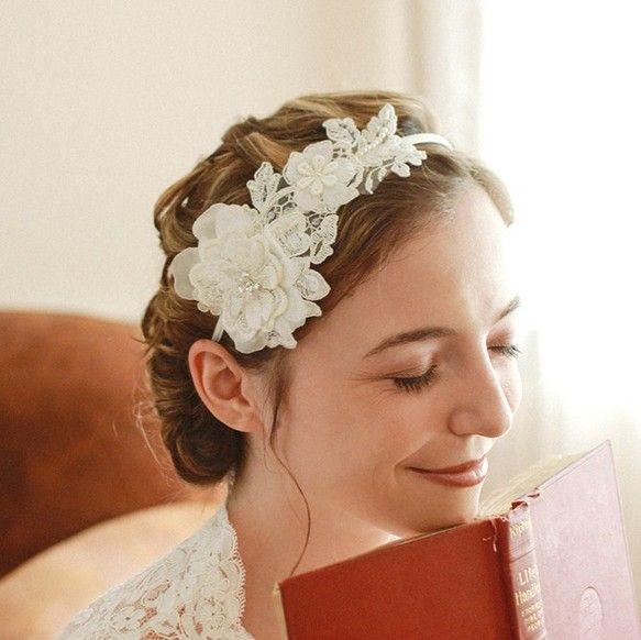 ヘッドドレス〈Lace blossom Style201〉|ヘッドドレス・ドレス|ハンドメイド通販・販売のCreema