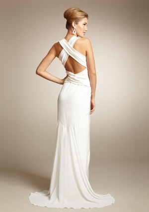 Nicole Miller Open Back Bow Silk Gown Wedding Dresses Pinterest And