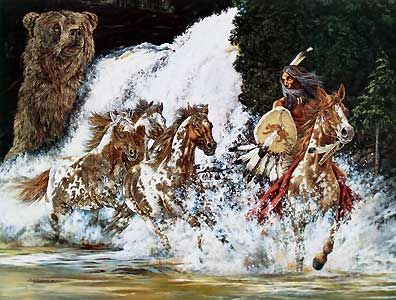 Spirits of Grizzly Creek - Judy Larson - World-Wide-Art.com - $265.00 #JudyLarson #Horses