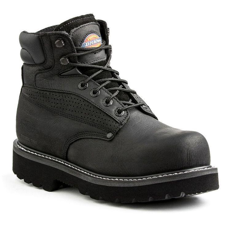 Dickies Breaker Men's Waterproof Steel-Toe Work Boots, Size: 10.5, Black