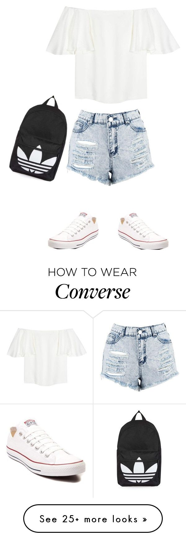 """""""simple"""" by vgiulietta on Polyvore featuring Valentino, Boohoo, Converse and Topshop"""
