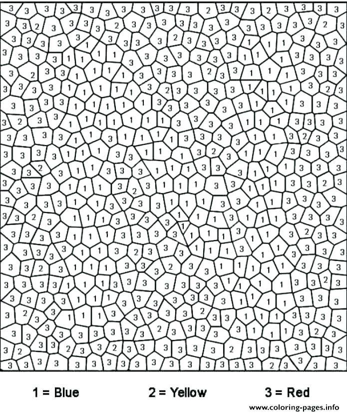 Free Color By Number Pages For Adults