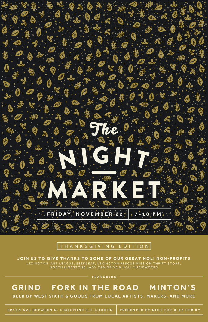 'The Night Market' text replaced with TADAA type. Ability to change background depending on feature of email e.g. new initiative.