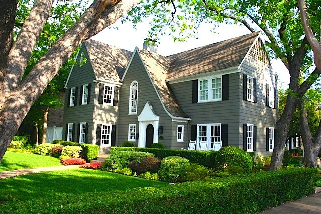 A classic shingle-style home built in the early 1900s, located in the historic district of Highland Park  (3437 Mockingbird, Highland Park - Dallas, Texas) #house #architecture #design