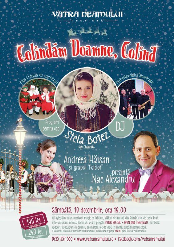 Sambata, 19 Decembrie 2015, ora 19:00, Restaurant Vatra Neamului (DN1, str. calea București, nr. 29, com. Balotești, jud. ILFOV)