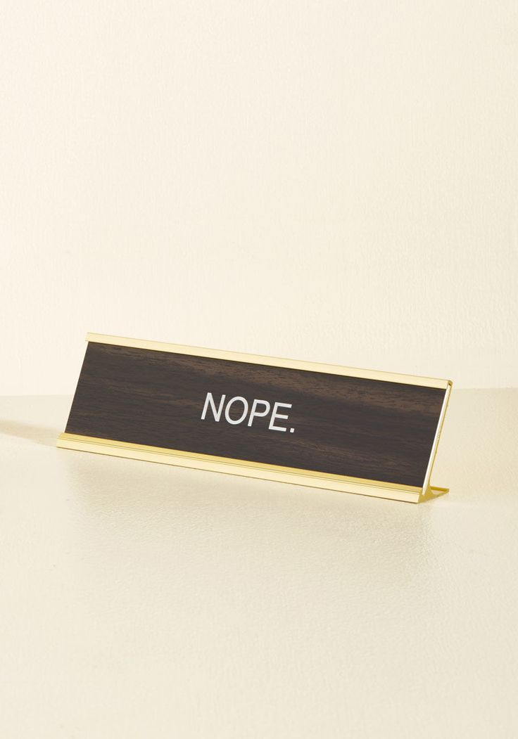 Answers May Nary Desk Plaque, #ModCloth