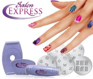 İşte size harika bir fırsat! Salon Express tırnaklarınıza renkli ojeler ile kolayca şekil ve desenler verebilirsiniz. Uygulaması son derece kolaydır. Salon Express İle Kuaförden Çıkmış Gibi Harika Renk Ve Desenler Yaratabilirsiniz.
