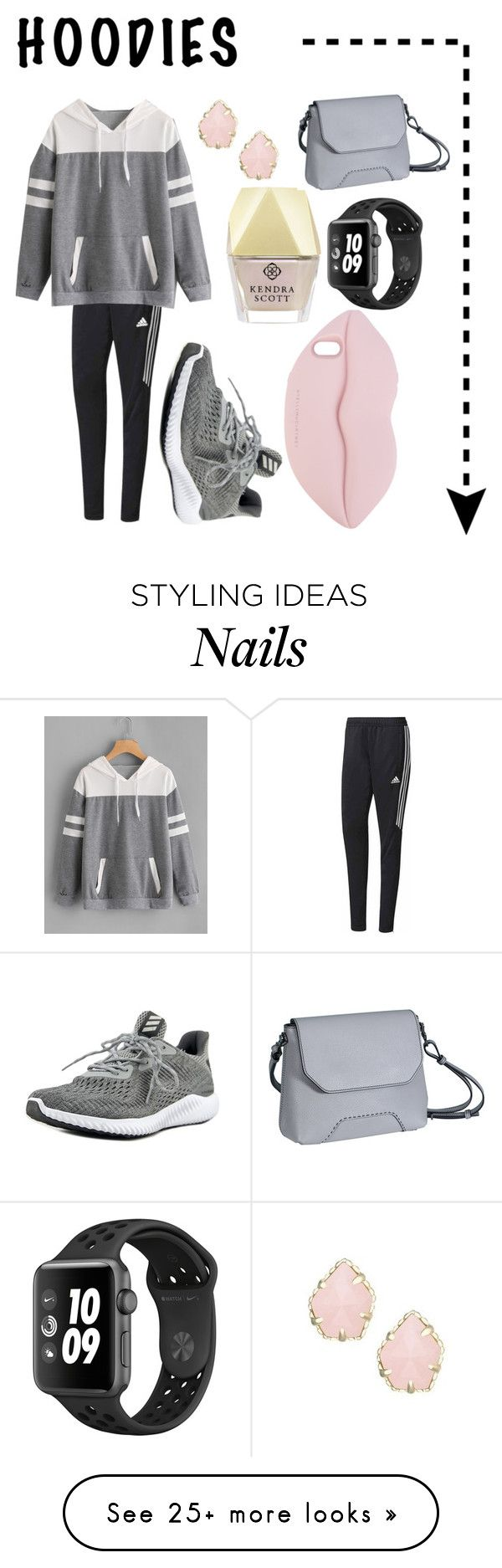 """Untitled #157"" by soccerole on Polyvore featuring adidas, Kendra Scott, Monteneri, STELLA McCARTNEY and Hoodies"