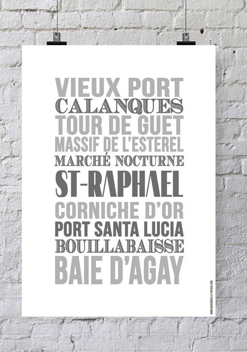 Affiche Bord de mer «Saint-Raphaël»