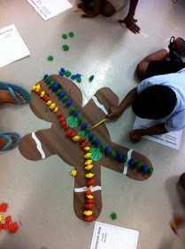 """Measuring the Gingerbread Man using non-standard units ("""",)"""