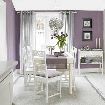 We apparently have too many blue rooms... purple dining room?