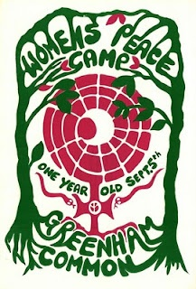 This poster was produced to mark the first anniversary of the day on 5th September 1981 that a Welsh group, Women for Life on Earth arrived at Greenham Common airbase in Berkshire, having marched from Cardiff, to protest at the NATO decision to site ground launched cruise missiles there. A peace camp was set up outside the main gate and remained for 19 years.