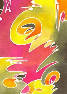 From the Studio of Julie Wildman: batik cards