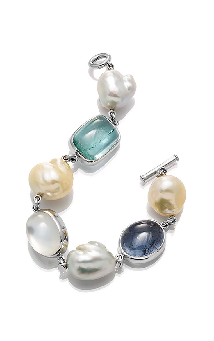 A Pearl and Gemstone Bracelet
