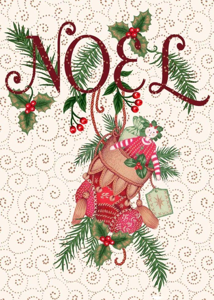 Valerie Greeley - VG623 Noel,Christmas,foliage,stocking,doll, toys.