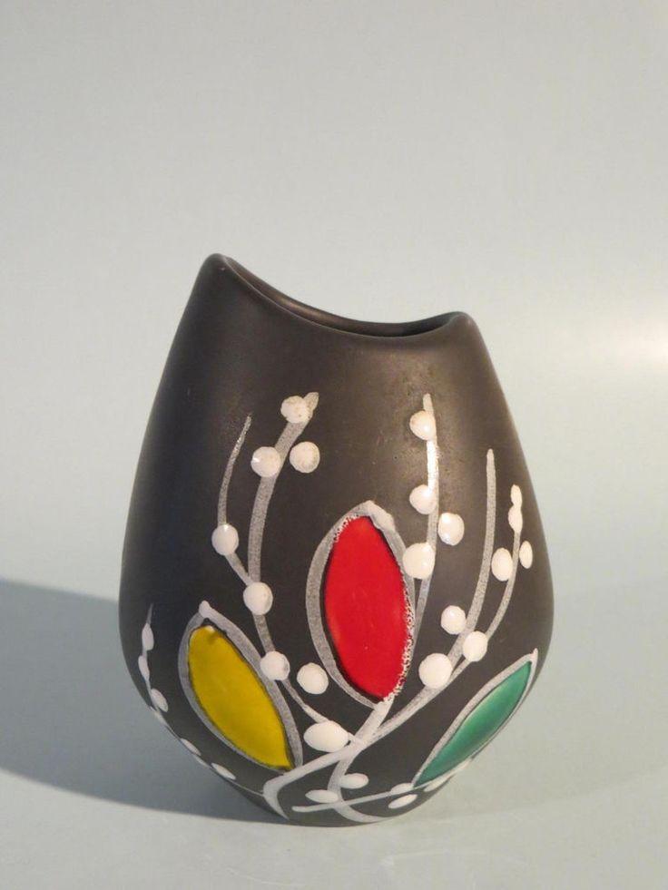 50er Jahre Keramik Vase Zeller Keramik / Georg Schmider - Form 4264/2   | eBay