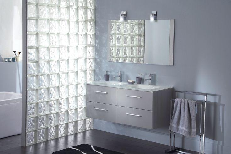 douche briques de verre