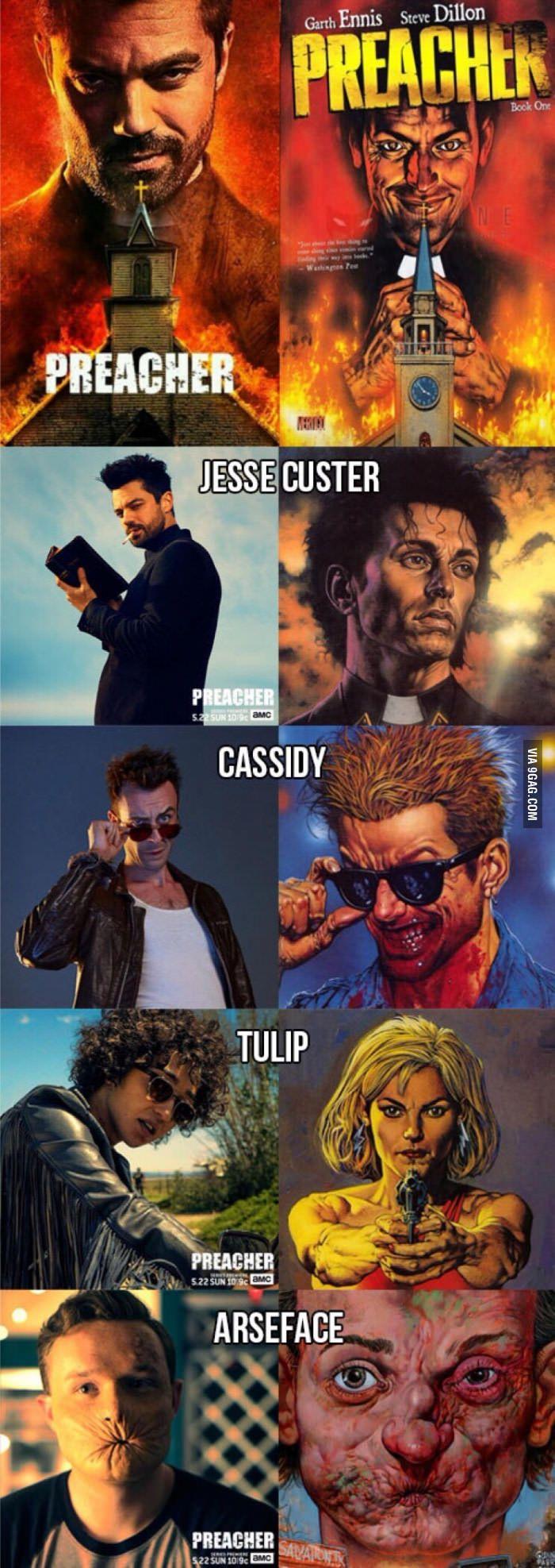 Show vs. comic-Joe Gilgun is PERFECT as Cassidy