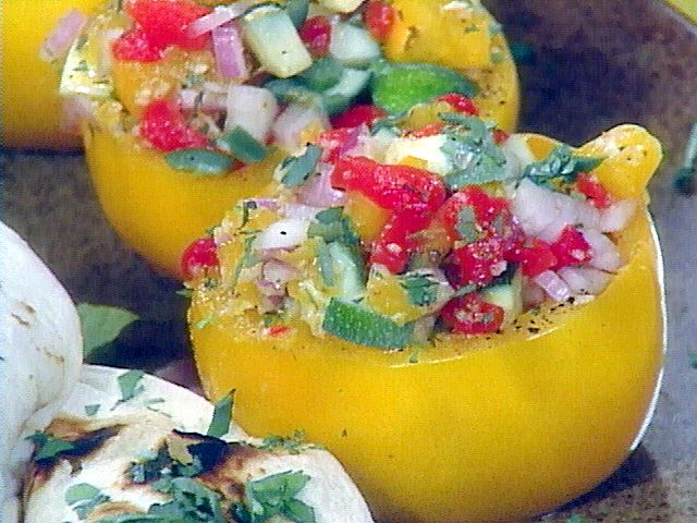 Mexican Stuffed Tomatoes: Food Network, Stuffed Tomatoes Recipes, Yellow Tomatoes, Foodnetwork Com, Easy To Follow Mexicans, Vegans Recipes, Stuffed Tomato Recipes, Rachael Ray, Mexicans Stuffed