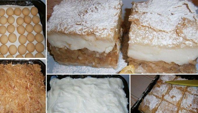 Jablkový koláč s pudinkem - FOTOPOSTUP
