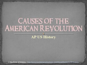 an overview of the causes of the american revolution Read the full-text online edition of the causes of the american revolution  read preview overview  american revolution causes related topic categories.