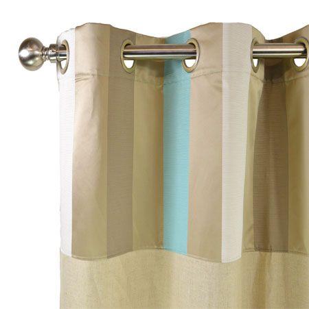 Rideau rayé en lin naturel prêt à poser 140x270cm muni de larges rayures contrastées et saturées tricolore. Sa sobriété et son élégance habille toutes les fenêtres pour un rendu moderne et tendance.