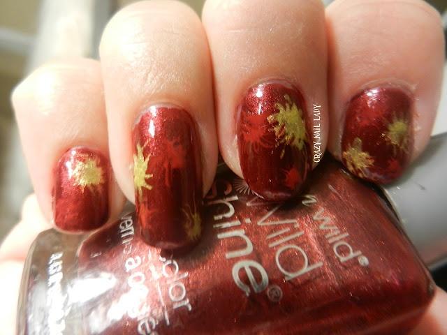1-red Splatter Nails Lady