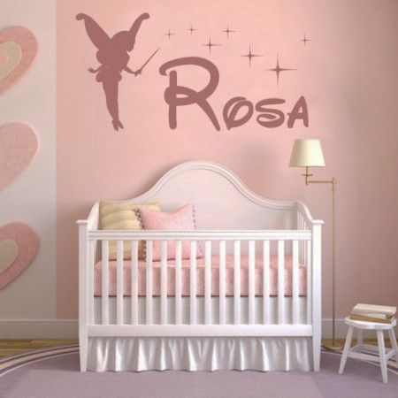 Best Vinilos Con El Nombre Rosa Y Hada Y Estrellas Diseño Pinterest 400 x 300