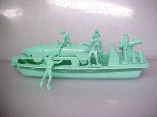 Ideal Frogman Submarine Green WWII Plastic Soldiers Army Men Like Marx | eBay