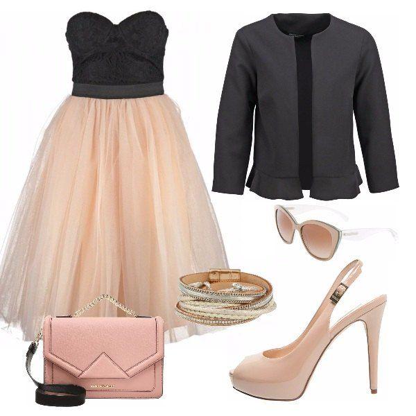 Per una cerimonia di giorno il nero è sconsigliato ma si sa che è anche il colore chic per eccellenza, allora perché non abbinarlo a un rosa confetto?? Questo outfit è l'ideale per un occasione del genere!!!
