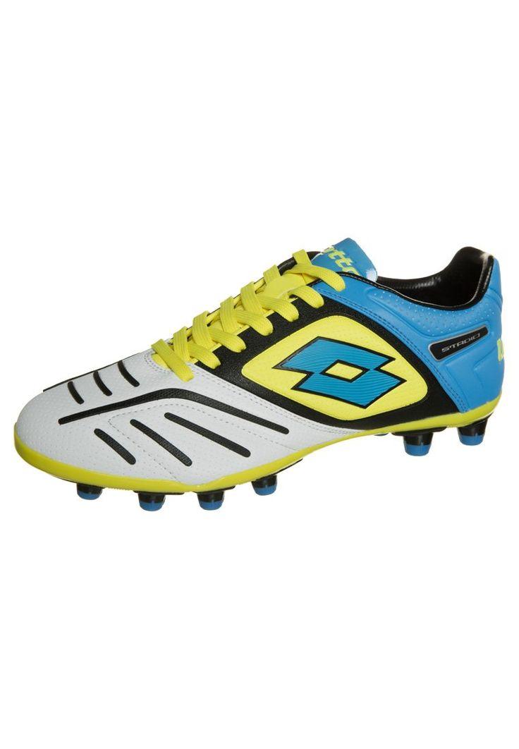 Lotto STADIO POTENZA V 200 FG Korki Lanki white/blue 386.10zł #sport #men #mężczyzna #obuwie #sportowe #męskie #lotto #stadio #potenza #v #fg #korki #lanki #white #blue #biały #niebieski #żółty #yellow