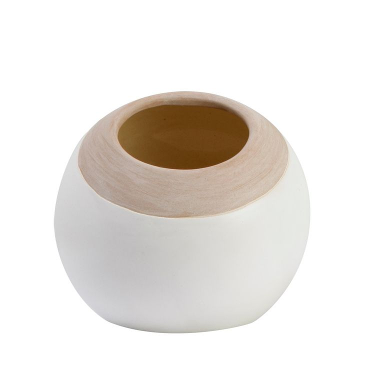 White Ball Slant Vase - T&W Guest Curator - T&W Guest Curator
