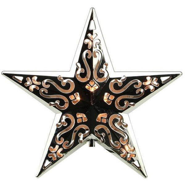 "8"" Lighted Silver Cut-Out Design Decorative Star Christmas Tree Topper ($40) ❤ liked on Polyvore featuring home, home decor, holiday decorations, lighted tree topper, star tree topper, xmas tree star topper, silver christmas tree topper and silver home decor #xmastreedecorations"