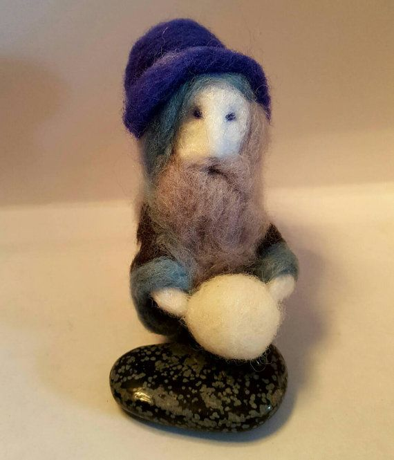 Needle felted North the snow sourcer by CallunaMoss on Etsy