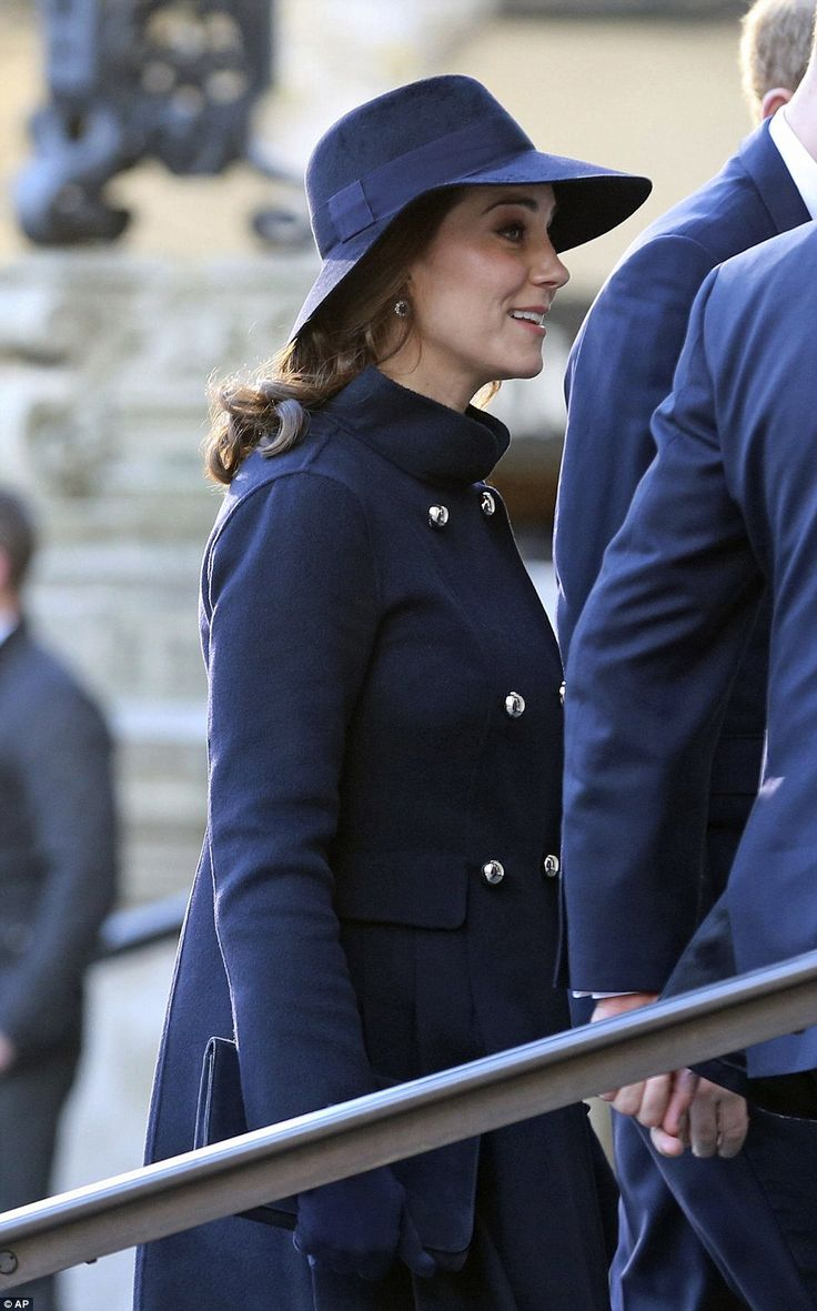Kate arrives for the memorial service at St Paul's Cathedral to mark the six month anniversary of the tragic fire