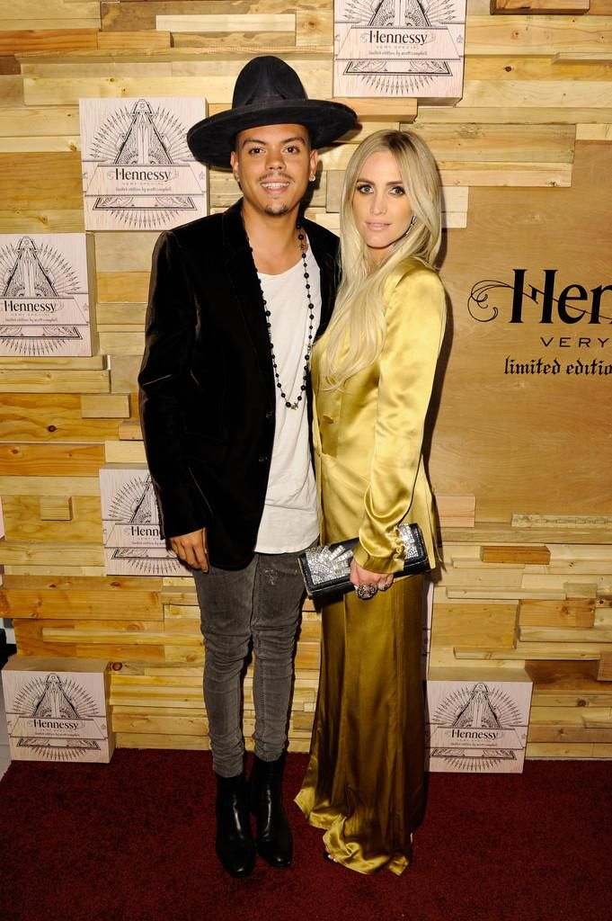 Ashlee Simpson wearing Kayat Fall 2016 Gold Satin Suit
