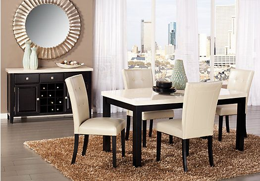 Shop for a kolby white 5 pc dining room at rooms to go for Dining room outlet reviews