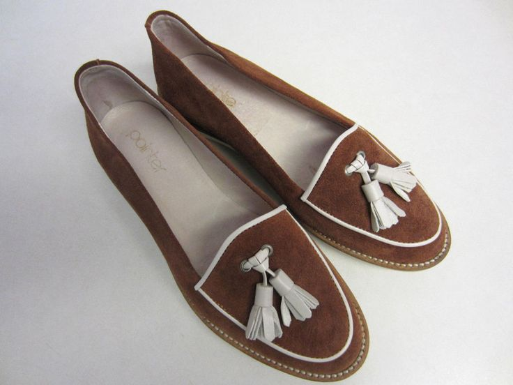 Pointer Shoes US 6 EUR 36 Brown Suede Loafers Lauren CLEARANCE SALE #Pointer #LoafersMoccasins