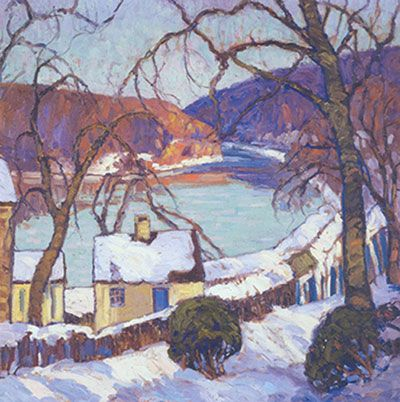 Fern I. Coppedge, The Delaware in Winter Fine Art Reproduction Oil Painting
