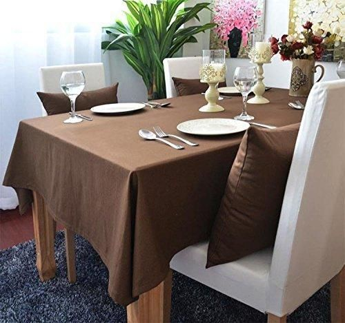 Marvelous Kingmerlina Cotton Linen Rectangle Polyester Solid Color Modern Tablecloth  Multi Sized Multi Size