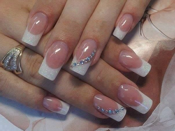 30 best mom vacation nail ideas images on pinterest cute nails french tips with just a touch of bling elegant and beautiful prinsesfo Choice Image