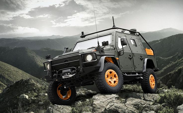Based on the company's rugged G-Class SUV, the Mercedes-Benz G-Wagon LAPV 6.X is an armored patrol vehicle as fit for the battlefield as it is for the forest. Features include a diesel engine, a payload capacity of 1.3 tons, a full steel body, a mine deflector plate, an individual tire inflation system, and a number of advanced tactical military technologies from EADS.