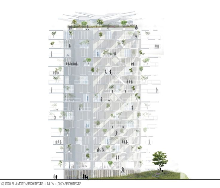 sou fujimoto to construct the second architectural folly of the 21st century - Great graphic representation