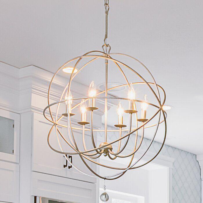 Willa Arlo Interiors Gregoire 6 Light Unique Statement Globe Chandelier Reviews Wayfair Globe Chandelier Dining Room Lighting Dining Room Chandelier
