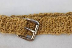 My Tunisian Crochet: Jute Twine Crocheted Belt Pattern