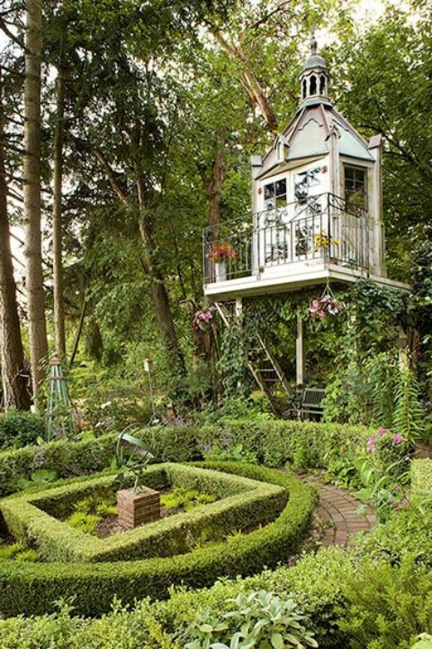 I want this for my own big girl tree house garden room for Two room garden shed