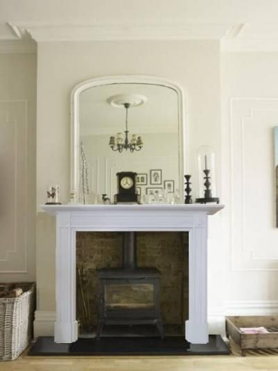 Antique Georgian Style Painted Fire Surround