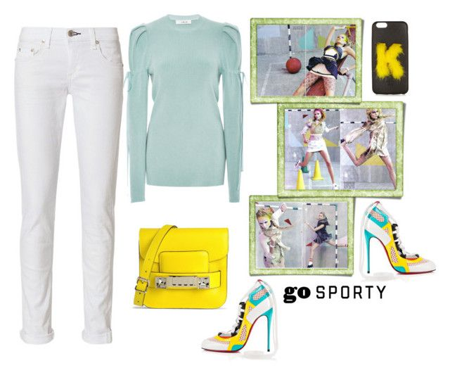"""Street Sport"" by juliabachmann ❤ liked on Polyvore featuring Christian Louboutin, Adeam, rag & bone, Fendi and Proenza Schouler"