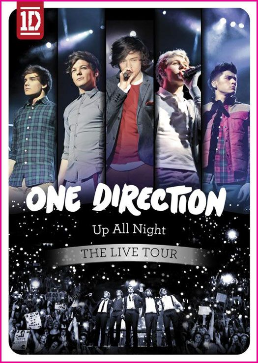 """One Direction """"Up All Night - The Live Tour"""" DVD Watch Party Invitation."""